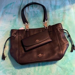 Coach Leather Elle Chain Tote & Coach wallet NWT